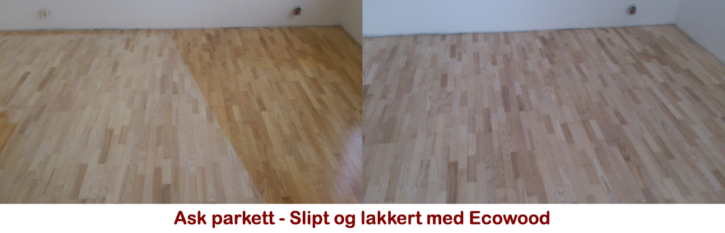 Ask parkett - Slipt og lakkert med Ecowood